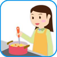 料理する人 画像
